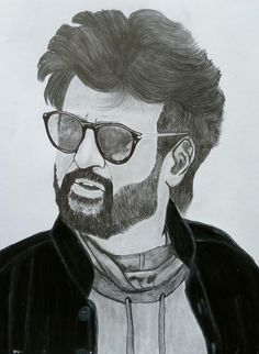 sketch rajinikanth drawing drawings pencil easy portrait sketches pen character painting acrylic