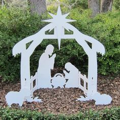 Beautiful Silhouette Style Outdoor Nativity Sets - Daytime View $149.50