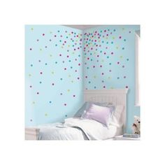 RoomMates 5 in. x 11.5 in. Multi Glitter Confetti Dots Peel and Stick Wall Decal-RMK2712SCS - The Home Depot