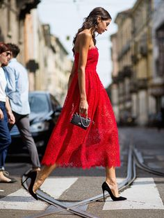 red lace. #SaraRossetto in Milan.