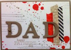 Discover Ink - Ann Gerlach Independent Stampin' Up! Scrapbook Pages, Scrapbooking, Mother And Father, Washi Tape, One Color, Fathers Day, Stampin Up, Card Making, Paper Crafts