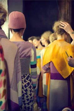 backstage at tsumori chisato