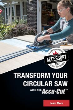 We're happy to announce that the Kreg Accu-Cut™ has been awarded the Canadian Woodworking & Home Improvement Accessory of the Year! Click to learn more about how this tool can help with cutting sheet goods! #kregtools #kregjig #plywood