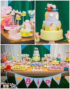 Peppa Pig themed birthday party with Lots of Really Cute Ideas via Kara's Party Ideas KarasPartyIdeas.com #peppapig #peppapigparty #partyideas