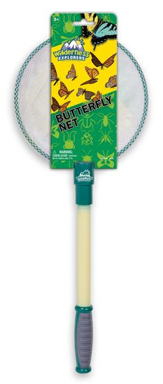 Educate your child on the the living world around the back yard. This butterfly net toy features a mesh net with a sturdy, handle. Your kid will have a blast running around catching butterflies, moths, and more!