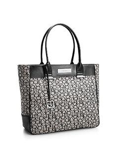 Calvin Klein Logo Jacquard Large Shopper Tote Shoulder Bag Handbag Satchel  (Granite) Calvin Klein a60f087233