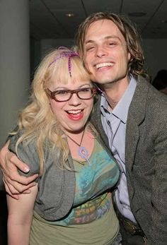 Kirsten Vangsness as Penelope Garcia and Matthew Gray Gubler as Spencer Reed on Criminal Minds