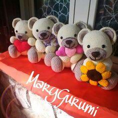 schema per orsetto thun amigurumi Crochet Bear, Thread Crochet, Crochet Animals, Diy Crochet, Amigurumi Toys, Crochet Patterns Amigurumi, Crochet Dolls, Pet Toys, Baby Toys