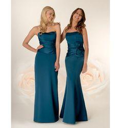 bridesmaid dresses teal