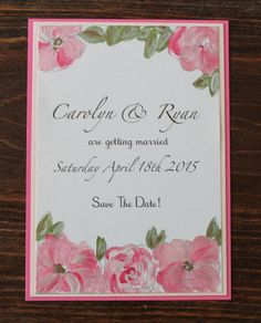 Floral Blooms – Blush Paper Couture hand painted custom made wedding invitations!!! LOVE LOVE LOVE!!!