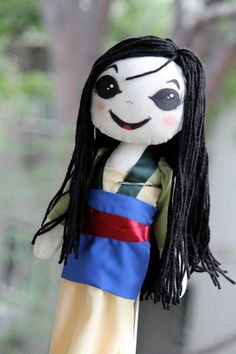 Disney Mulan Inspired Cloth Doll by SpookyPookyCreations on Etsy, $50.00