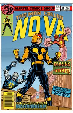 Nova #22 Cover Recreation by Steve Erwin and Chris Ivy(Colored version)