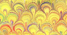 Peacock (Bouquet) Huge site on examples of paper marbling