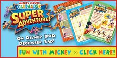 MICKEY MOUSE CLUBHOUSE: SUPER ADVENTURE Activity Sheets