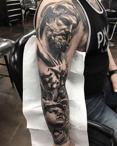 Fred Flores Creates Some Truly Epic Tattoo Art pics) Payasa Tattoo, God Tattoos, Epic Tattoo, Badass Tattoos, Sexy Tattoos, Body Art Tattoos, Tattoos For Guys, Tattoo Fonts, Tattos