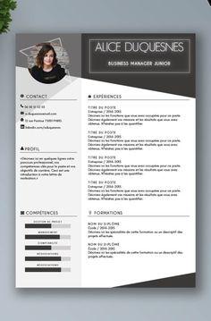 Simple Resume Template, Resume Design Template, Cv Template, Resume Templates, Cv Resume Sample, Basic Resume, Visual Resume, Beau Cv, Conception Cv