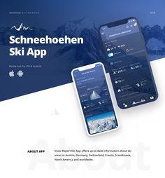 Schneehoehen Ski App by Alex Ds Karera, ossmium .