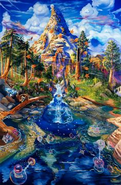 psychedelic nature art