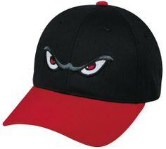31fec2c4106 MiLB Minor League ADULT LAKE ELSINORE STORM Black Red Hat Cap Adjustable  Velcro TWILL