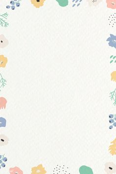 Botanical pattern frame on beige background vector | premium image by rawpixel.com / nunny Beige Background, Background Patterns, Photo Collage Template, Minimal Wallpaper, Note Doodles, Colorful Frames, Cute Disney Wallpaper, Notes Design, Good Notes
