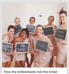 Stop explaining how you met all your bridesmaid, a picture will SAVE you a thousand words!
