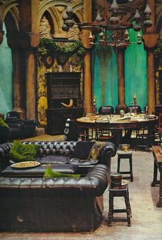 halfbloodprincestale:  The Slytherin Common Room: reminder how it looked... this will be fun