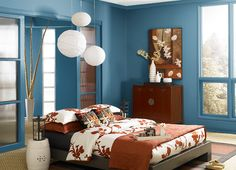 This is the project I created on Behr.com. I used these colors: LIVING STREAM(M490-6),