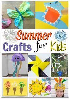 Fun Summer Crafts for Kids Cute Kids Crafts, Summer Crafts For Kids, Crafts For Kids To Make, Summer Diy, Crafts For Teens, Diy Crafts To Sell, Summer Ideas, Kids Fun, Kid Crafts