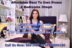 Hurry Avail Our Promo! 🏡🚝🏢🚕🍾🏊🏻🏝 For as low as PhP 125k down payment to move in for 2Bedroom and PhP 18k monthly amortization for 2 years only.  Most Affordable  Rent to Own in New Manila  Condo near U-Belt  Little Baguio Terraces in San Juan, Between Aurora Blvd QC and N.Domingo San Juan, 5mins walk from LRT GILMORE STATION  Move in atleast 10% Paid and upon Notice of Turnover  3 Years to Pay ZERO% INTEREST Balance on 37th Month 2 BEDROOM 30sqm as low as 15,000++/month  Pre-selling…