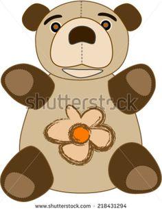 Teddy bear, cartoon - stock vector