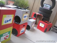 really cool #cardboard cars at party
