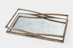 Tilley Antique Gold Mirrored Tray is fabulous for serving up your favorite cocktails