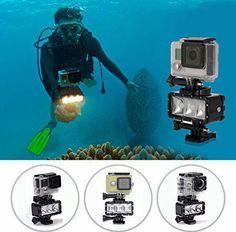 Underwater Diving Fill Light Waterproof Flashlight for Gopro Hero 7 Gopro 6, Gopro Hero, Underwater Camera Housing, Underwater Lights, Underwater Photos, Camera Frame, Fill Light, Photography Challenge, Diving