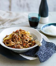 Don& let a top drop go to waste. Add red wine& peppery, rich notes to your cool-weather cooking with braised pheasant, pappardelle with duck ragù, a classic beef bourguignon and more. Duck Recipes, Chef Recipes, Meat Recipes, Wine Recipes, Pasta Recipes, Italian Recipes, Cooking Recipes, Goose Recipes, Healthy Recipes