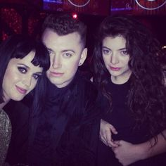 Katy Perry, Sam Smith and Lorde. I LOVE ALL OF THEM!! especially Lorde and Sam Smith!!