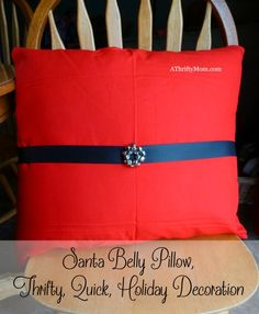 santa belly pillow,