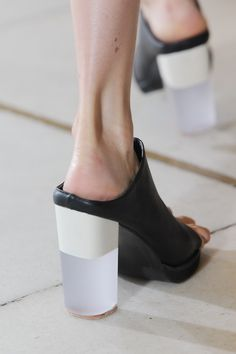 Translucent heeled mule , yes, we're drooling too! @IssaLondon #LFW #SS15