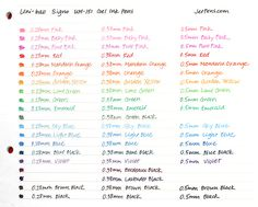 Uni-ball Signo UM-151 Gel Ink Pen - 0.38 mm - Lavender Black - UNI UM151.65   All those shades of purple!