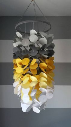 Paper Mobile pale gray dark gray yellow and by mobilkamobile
