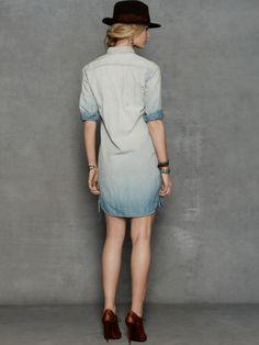 Chambray Workshirt Dress - RRL ALL STOCK - RalphLauren.com