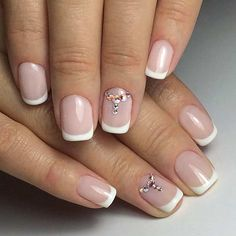 Rhinestone Accent Nail for Brides to Be