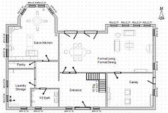 Home Design Drawing House floor plan design project - Students use math and design skills to create their own home floor plan. Free Floor Plans, Cabin Floor Plans, Home Design Floor Plans, Plan Design, Design Ideas, Drawing House Plans, Floor Plan Drawing, Home Remodeling Software, Floor Plan Creator