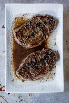 Omaha Steaks Filet Mignon Pan Seared With Red Wine  Pepppercorn Reduction