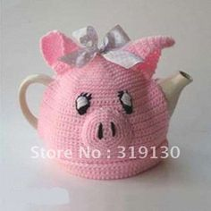 This Little Piggy Tea Cozy Knitting Projects, Crochet Projects, Knitting Patterns, Sewing Projects, Crochet Patterns, Crochet Cozy, Crochet Yarn, Teapot Cover, Knitted Tea Cosies