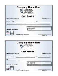 receipt book templates 10 free printable word excel pdf