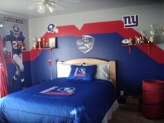Elegant New York Giants Room Idea   I Feel Like Future Son Will Have This Room.