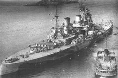 HMS Prince of Wales and HMS Repulse at Singapore, shortly before their demise at the hands of Japanese bombers off the coast of Malaysia. Seven months earlier Prince of Wales had exchanged blows with...