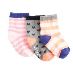 Baby socks three-pack