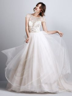 Maggie SOttero Emery Blush Size 26 SAMPLE ONLY DISCONTINUED Rustic Wedding Dresses, Elegant Wedding Dress, Designer Wedding Dresses, Bridal Dresses, Wedding Gowns, 2017 Wedding, 2017 Bridal, Ceremony Dresses, Tulle Ball Gown