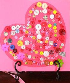 heart button craft